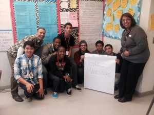 Rich Saldana and Laura Rico with Artesia High Learners